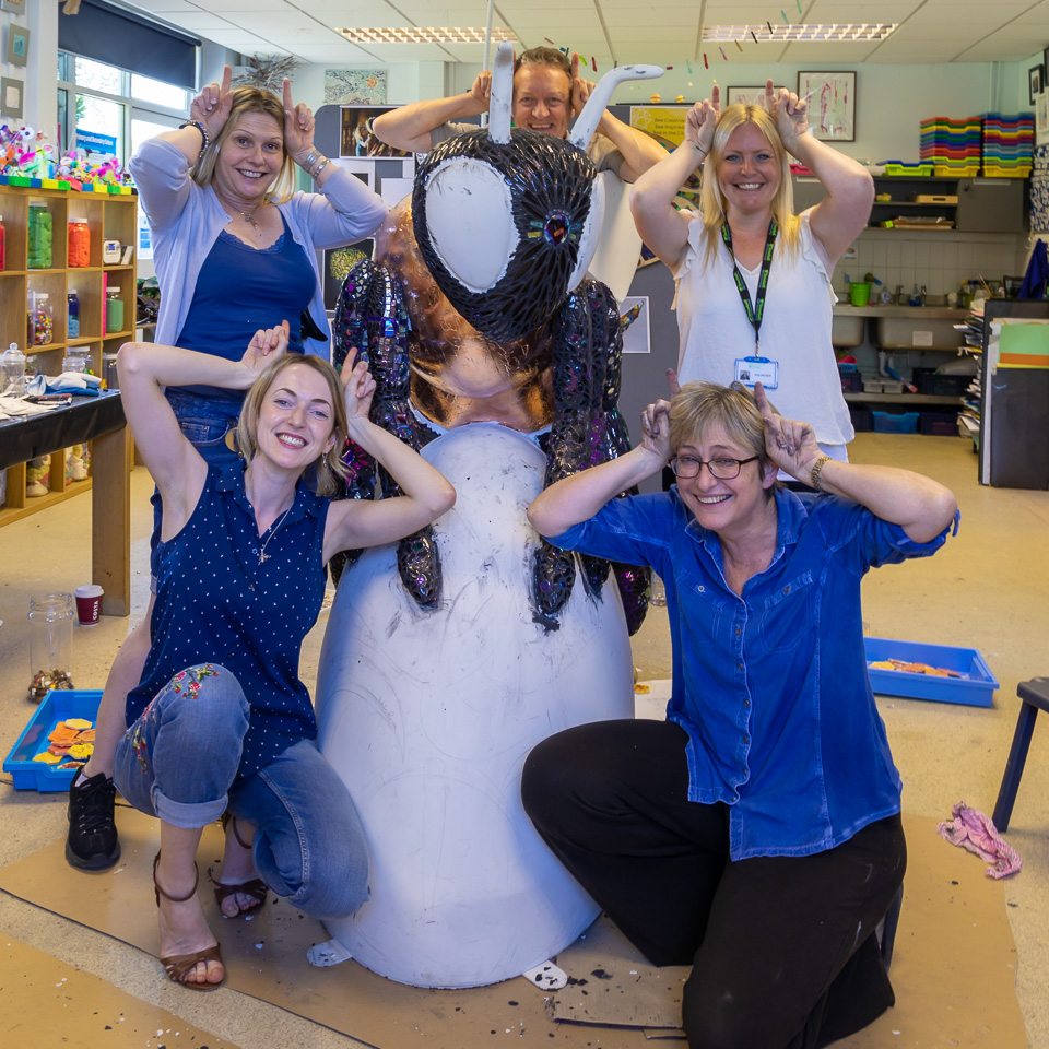 Royal Manchester School staff having fun with Shellbee